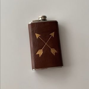 UO Stainless Steel Leather Arrow Flask